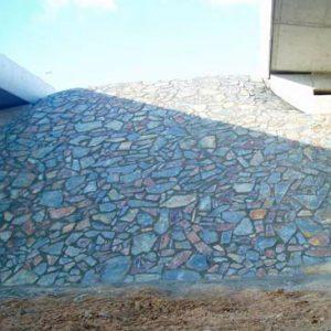 Cubiertas Segovia - Piedras irregulares: Filita gris - cobriza oxidada
