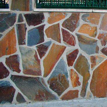 Cubiertas Segovia - Piedras irregulares: Filita roja