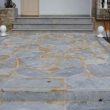Cubiertas Segovia - Piedras irregulares: Cuarcita blanca